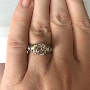 Tacori 925 Sterling Silver Round 100 Facet Ring